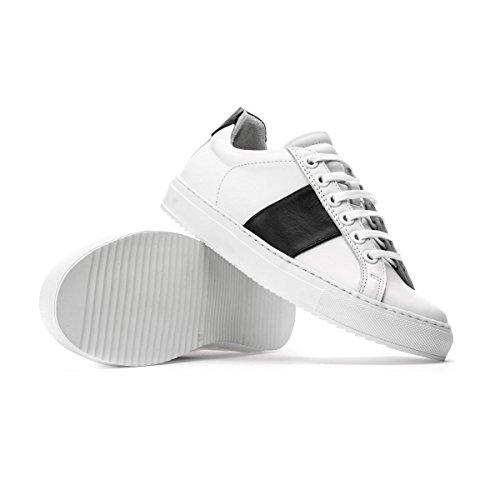 NATIONAL Nera STANDARD Banda Basse Sneakers 36 Bianche Size UxUXqrfP
