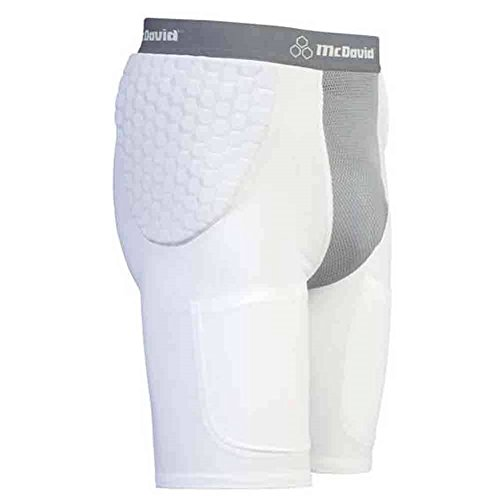 - McDavid Classic Logo 7550Y CL Youth Hexpad Hexmesh Football Girdle White/Grey X-large