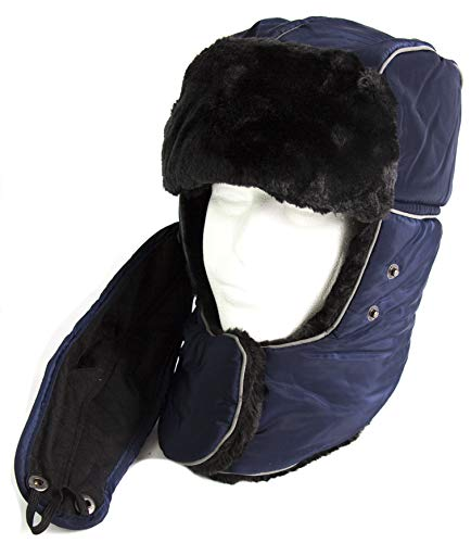 8af316f0d4e15 Amazon.com  Sakkas 18219 - Alex Unisex Ushanka Faux Fur Windproof Trapper  Aviator Hat Removable Mask - 18217-Camo-1 - OS  Clothing
