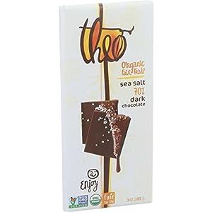 Theo Chocolate Organic 70% Dark Chocolate Sea Salt -- 3 oz