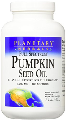 PLANETARY HERBALS Pumpkin Seed Oil Full Spectrum Botanical Support for The Prostate, 180 - Botanical Prostate Support