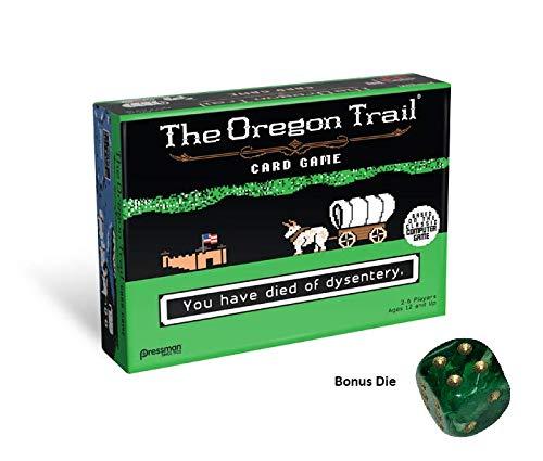 The Oregon Trail Card Game Plus Bonus Collector Green/Gold Die ... (Oregon Trail) (Best Oregon Trail Game)
