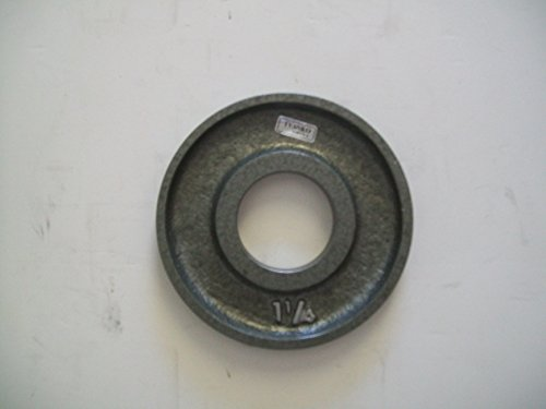 1 1/4 lb. Grey Machined Olympic Plates (Pair) by Ivanko