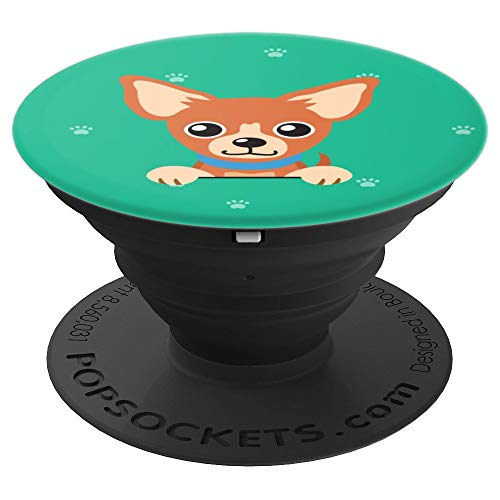 Cute Chihuahua Inspired Dog Pattern Gift for Puppy Owners - PopSockets Grip and Stand for Phones and Tablets]()