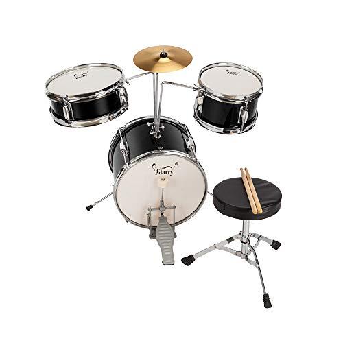 Lovinland 13''x8'' 3-Pieces Junior Kids Child Drum Set Kit Pedal Drum Stick Wrench Drum Stool Black by Lovinland (Image #9)