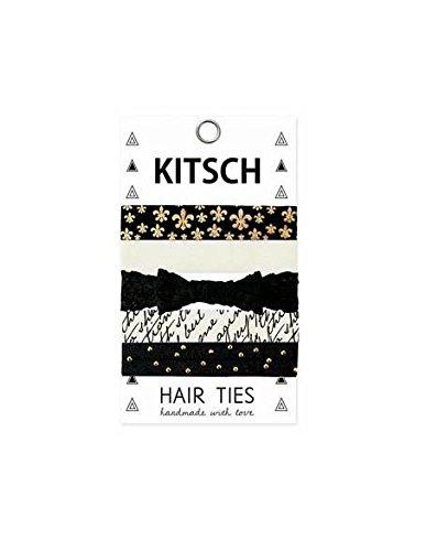 Kitsch 5 Piece Hair Ties, Fleur De Lis