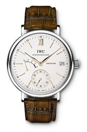IWC Portofino Mano Herida ocho días Plata Dial Mens Reloj IW510103 por IWC: Amazon.es: Relojes