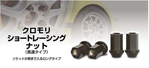 クロモリ ショートレーシングナット M12 ピッチ1.25 貫通タイプ (20個入り) B00XEAFPNK
