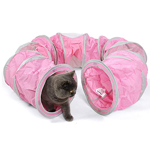 Foldable Cat Tunnel Pet Tunnel Funny Play Crinkle Sound Cat Toy Bulk Cat Toys Rabbit Play Tunnel Mesh Pet Toys Products