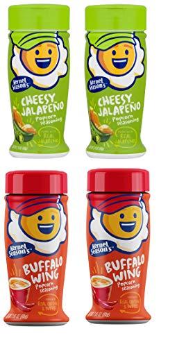 Kernel Seasons 4 Pack Seasoning Kit (2 Cheesy Jalapeño & 2 Buffalo Wing)