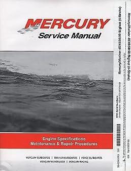 1999 2008 mercury mariner 40 45 50 50 bigfoot 4 stroke service rh amazon com mercury 50 bigfoot manual Mercury Spacecraft