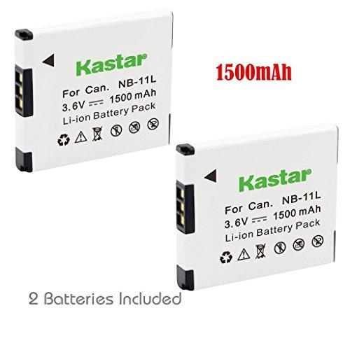 Kastar NB11L Battery 2 Pack for Canon NB-11L & PowerShot A3400 IS, A3500 IS, A4000 IS, ELPH 110 HS, ELPH 115 HS, ELPH 130 HS, ELPH 135 IS, ELPH 170 IS, ELPH 340 HS, ELPH 350 HS, SX400 IS, SX410 IS