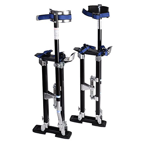 New 18-30 Inch Drywall Stilts Aluminum Tool Painters Walking Taping Finishing Black by MTN Gearsmith (Image #2)