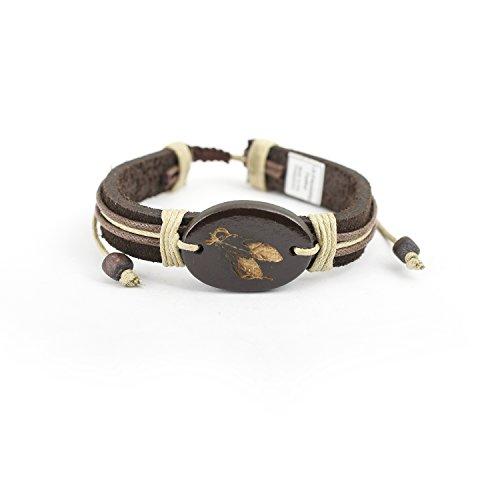 Adjustable Leatherette Bracelet Tied Friendship Feather