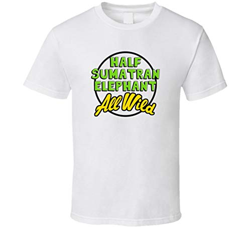 Half Sumatran Elephant All Wild Cool Trending Zoo Animal Pet T Shirt L White