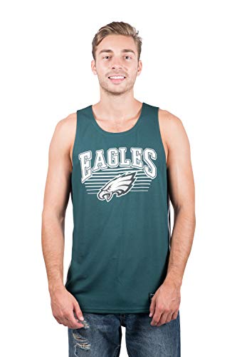 - NFL Philadelphia Eagles Men's Jersey Tank Top Sleeveless Mesh Tee Shirt, Medium, Green