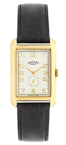 Rotary GS02698/03 Mens Portland Gold-Tone Rectangular Watch
