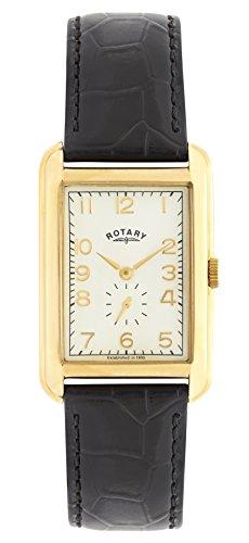 Rotary GS02698/03 Mens Portland Gold-Tone Rectangular Watch
