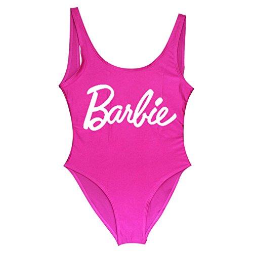 lZdZyCOQ Barbie - Bañador Sexy de una Pieza para natación, bañador de Playa, Gsxb274-purple Red, S
