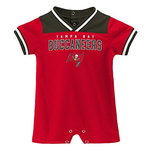 Outerstuff NFL NFL Tampa Bay Buccaneers Newborn & Infant Game Day Short Sleeve Romper Red, 6-9 Months