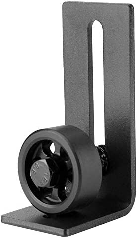 Carbon Steel Roller Guide Adjustable Wall Floor Roller Guide Bottom Floor Guide Set Adjustable Wheel Sliding Door for Bottom of Color: Black