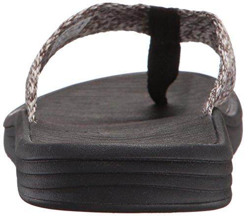 Sanuk Flip Men's Compass Grey Black Charcoal Flop Webbing 11T6qvw