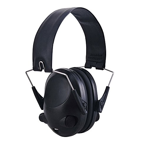 Foldable Earmuff,AutumnFall 2017 New TAC 6s Anti-Noise Tactical Headset Sport Headphone Headband (Black)