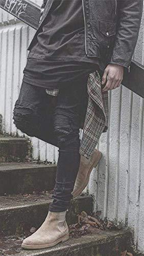Di Jeans Dritti Da Colour Locomotive Uomo Slim Pantaloni Fit Elastici Neri Giovane Trepanationsloch tBRCBw4q