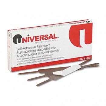 Universal® Self-Adhesive Paper Fasteners FASTENER,1'',SELF-ADHESIVE (Pack of15) by UNVSL