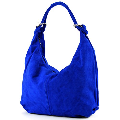 bag 337 bag Italian Royal women's leather Blue handbag Suede bag hobo bag 4Uwgxqw1
