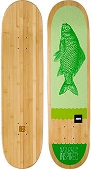 Bamboo Skateboards Green Fish Graphic Skateboard Deck