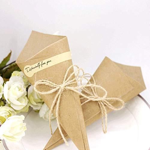 Segnaposto Matrimonio 0 50 Centesimi.Jzk 50 Fai Da Te Segnaposto Coni Portaconfetti Carta Kraft