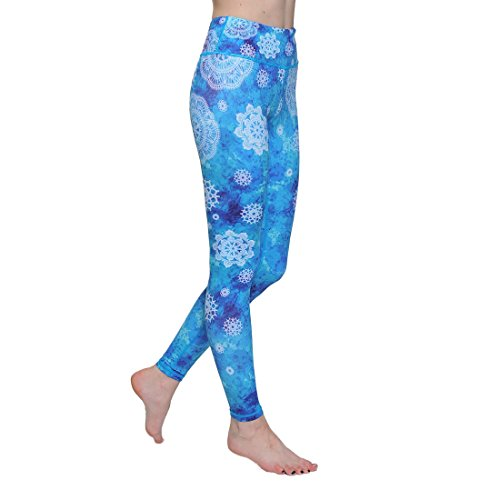 ONGASOFT Women's High Waist Printed Leggings, Tummy Control Yoga Leggings for Workout, Running, Casual