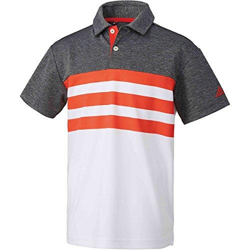 アディダス Adidas 半袖シャツ?ポロシャツ 3ストライプ 半袖ポロシャツ ジュニア ハイレスレッド 130