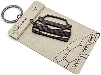 Blackstuff Carbon Karbonfaser Schlüsselanhänger Kompatibel Mit Mazda 3 2003 2009 Bs 759 Auto