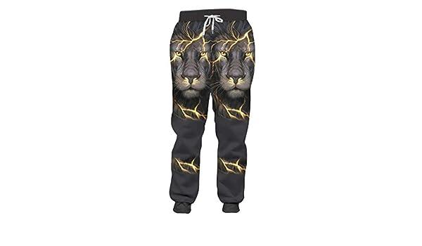 Pantalones de chándal para Hombre Cool Print Lion King Pantalones ...