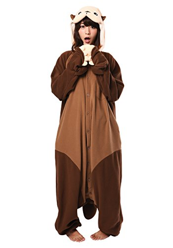 SAZAC Halloween Sea Otter Onesie Costumes (Adults, Sea Otter) -
