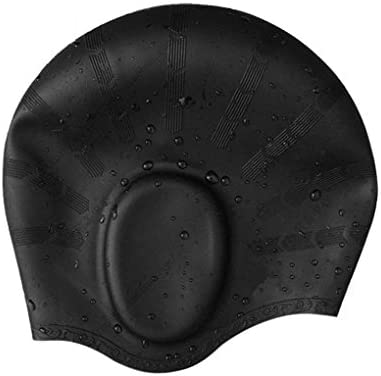 Gorro de natación de silicona con hueco para las orejas ...