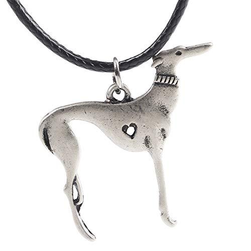 Charms Animal Lover Italian - Paw Paw House Elegant Sitting Italian Greyhound Dog Necklace Animal Pendant I Love My Dog Memorial Gift Greyhound Rescue 1252 (1263)