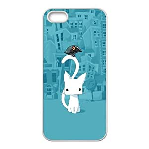 iPhone 5 5s Cell Phone Case White Cute City Cartoon Cat JNR2044200