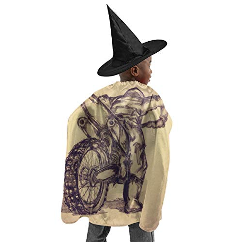 Witch Costumes Sketch - YUIOP Deluxe Halloween Children Costume Motorcross