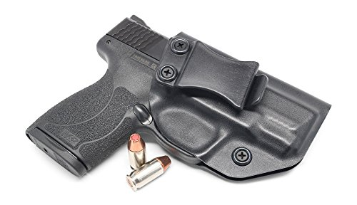 Concealment Express IWB KYDEX Holster: fits Smith & Wesson M&P Shield 45 ACP - Custom Fit - US Made - Inside Waistband - Adj. Cant/Retention (BLK, Right)