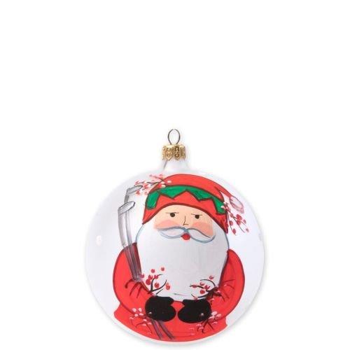 Vietri Old St. Nick Christmas Ball Ornament, Golfing Santa (Ornaments Vietri Christmas)