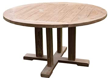 Wohnpalast Table de Jardin Ronde en Teck Massif Dimensions ...