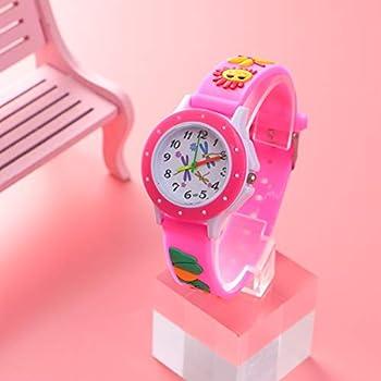 ساعات Hemobllo للأطفال ساعة كوارتز مطبوع عليها رسوم متحركة ثلاثية الأبعاد جميلة للأطفال مدرس وقت الأطفال للبنين والبنات والأطفال الصغار قطعتين لون عشوائي 23 5 4cm Amazon Ae