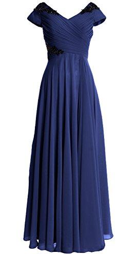 Dunkelmarine of Party Women MACloth Mother Sleeve Long Formal Bride Gown Dress Cap Wedding Z74gwx