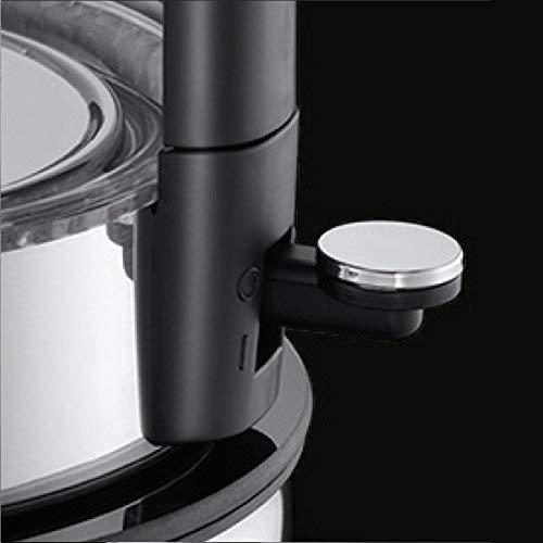 Russell Hobbs Elegance - Hervidor de Agua Eléctrico (2200W, 1,7l, Diseño de Cristal, Acero Inox, Negro) -ref. 23830-70
