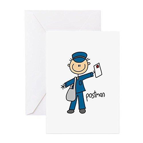 CafePress - Postman - Greeting Card, Note Card, Birthday Card, Blank Inside Glossy ()
