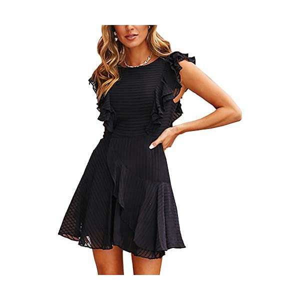 Swing Skirt Casual Summer Chiffon Sleeveless Party Short Dress
