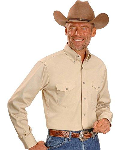 Wrangler Men's Painted Desert Basic Shirt, Tan, Medium